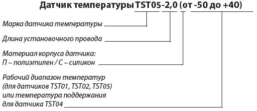 Характеристики датчика температуры